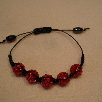 Bracelet Shamballa Red Bead
