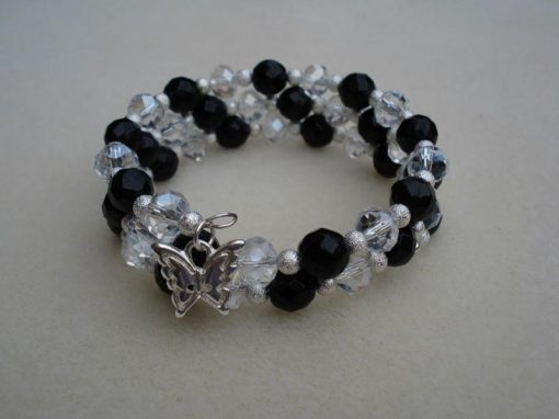 Wrap Bracelet Black and White