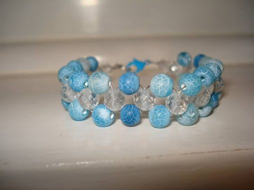 Frosted Blue Agate Bracelet