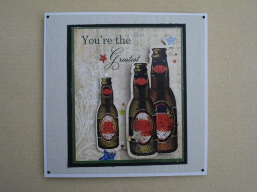Beer Bottle Themed Card
