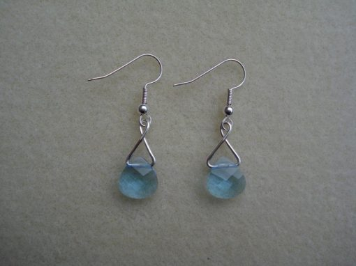 Swarovski Aquamarine Crystal Earrings