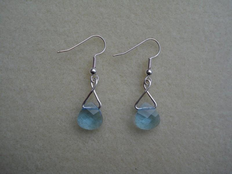 Swarovski Aquamarine Crystal Earrings