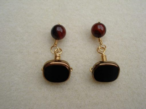 Cufflinks DarkBronze Glass.