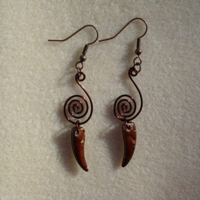 Brown Dagger Earrings