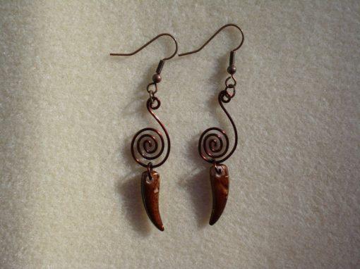 Brown Dagger Earrings