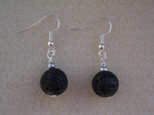 Black Lava Rock Earrings