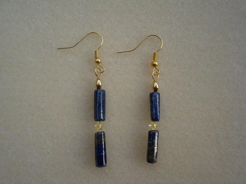 Lapis Lazuli Crystal Earrings