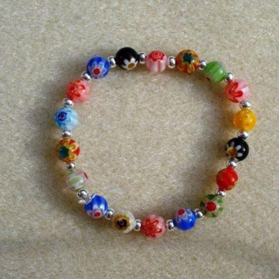Millefiori Bead Bracelet
