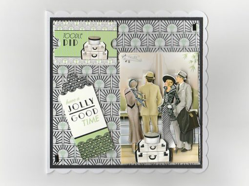 Art Deco Bon Voyage Card