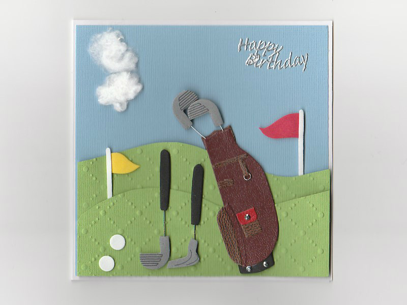 Cartoon Golf Birthday Cards Cart Customs
