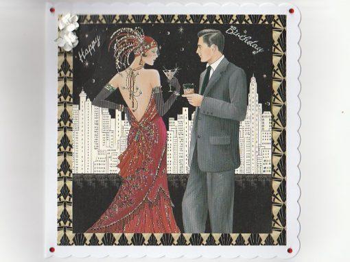 Art Deco Birthday Card