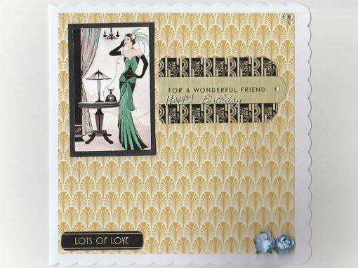 Art Deco Birthday Card for a Friend