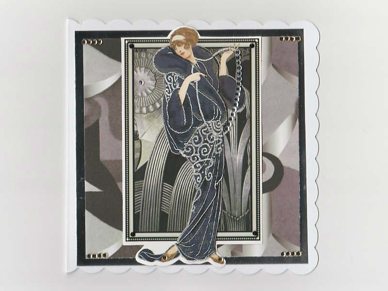Art Deco Lady Birthday Card