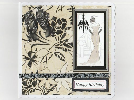 Art Deco Happy Birthday Card