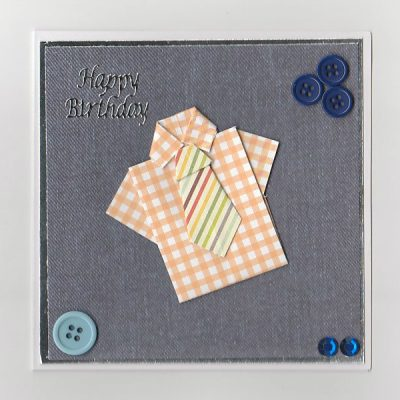 Origami Birthday Card Shirt