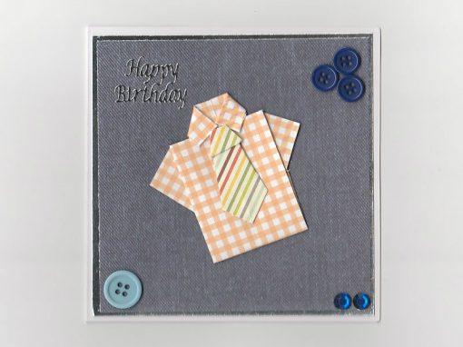 Origami Birthday Card Shirt