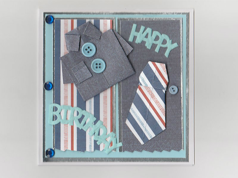 Origami Shirt Birthday Card