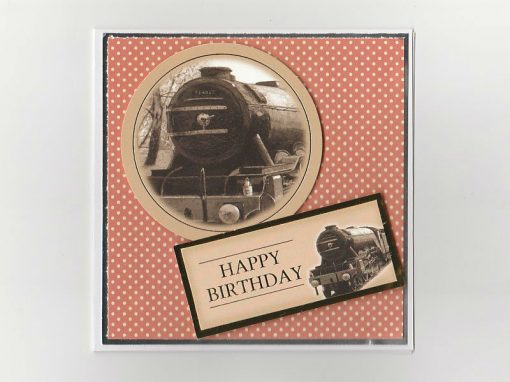 Steam Train Themed Birthday Card