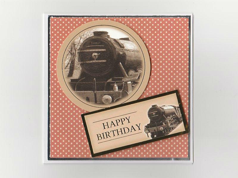 Steam Train Themed Birthday Card
