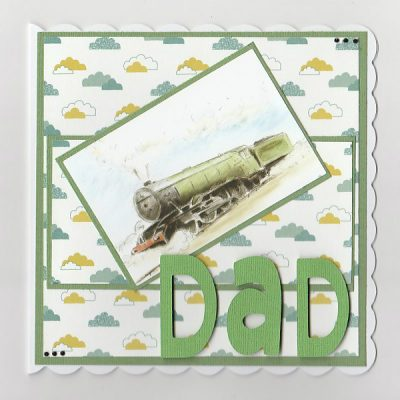 Train Card- Steam Train Birthday Card