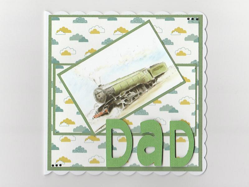 Train Card- Steam Train Birthday Card