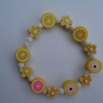 Yellow Fruit and Flower Bracelet