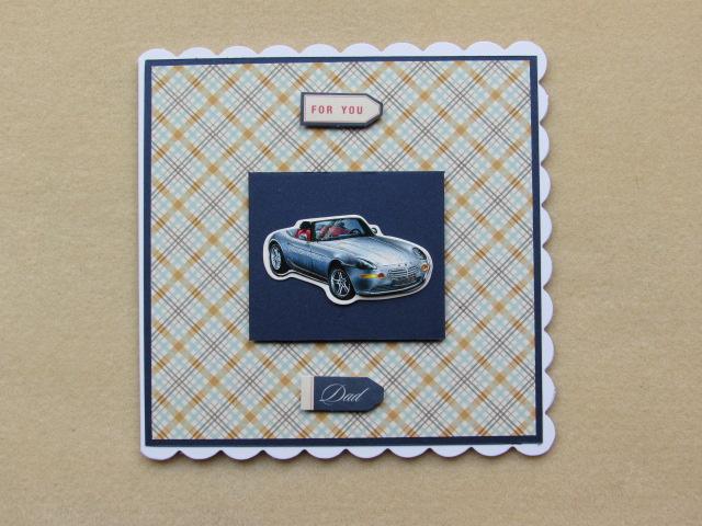 Birthday Card Male Sports Car