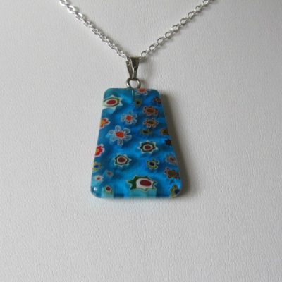 Millefiori Pendant Blue Glass