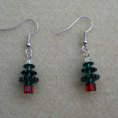 Swarovski Christmas Tree Earrings