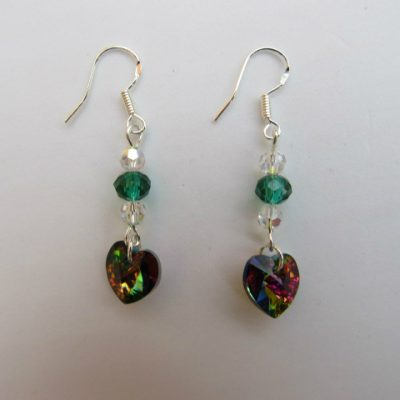 Swarovski Earrings Vitrail Hearts