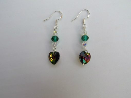 Swarovski Earrings Vitrial Hearts