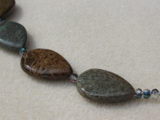 Snakeskin Jasper drop Beads