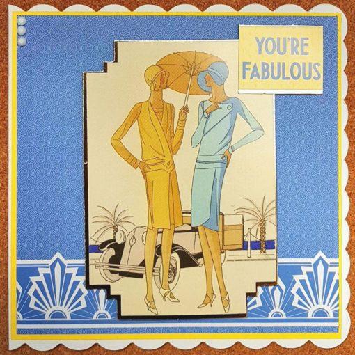You're Fabulous Art Deco Birthday Card