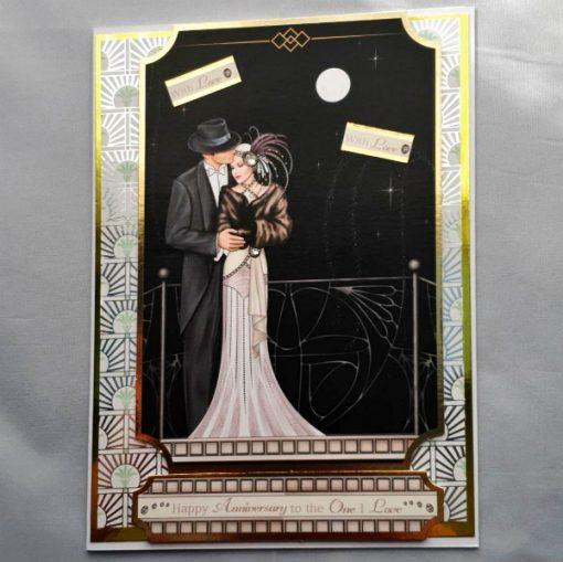 Handmade Art Deco Anniversary Card 009