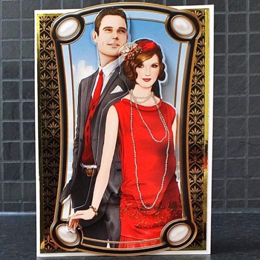 Art Deco Anniversary Card 005