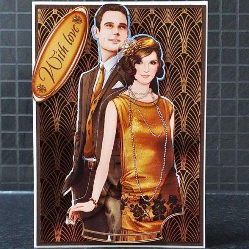 Art Deco Anniversary Card 006