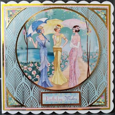 Handmade Art Deco Birthday Card 017