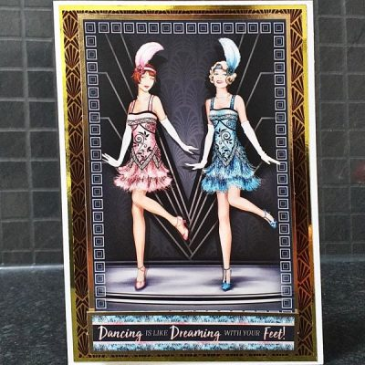 Art Deco Birthday Card 023